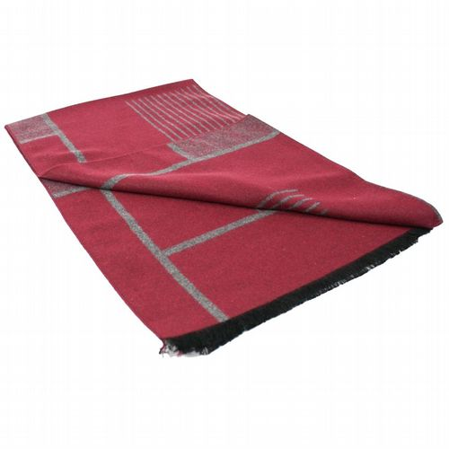 Bamboo Scarf - Red & Grey Tiled